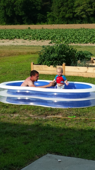 We had lots of fun with our little pool