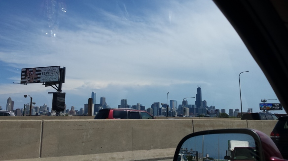 Stopped in traffic in Chicago